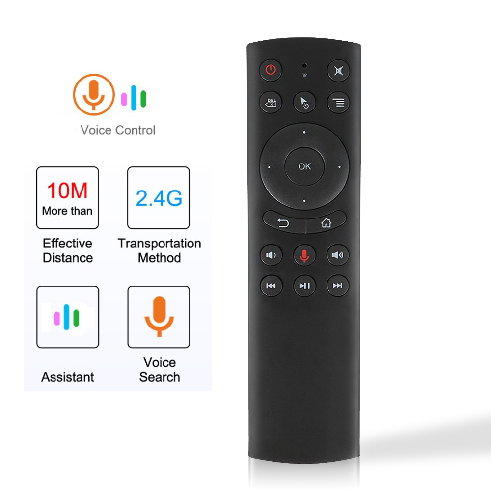 G20 G10 Voice Control G20S <font><b>G10S</b></font> Fly Air Mouse Wireless Keyboard Motion Sensing 2.4G Mini Remote Control For Android TV Box PC image