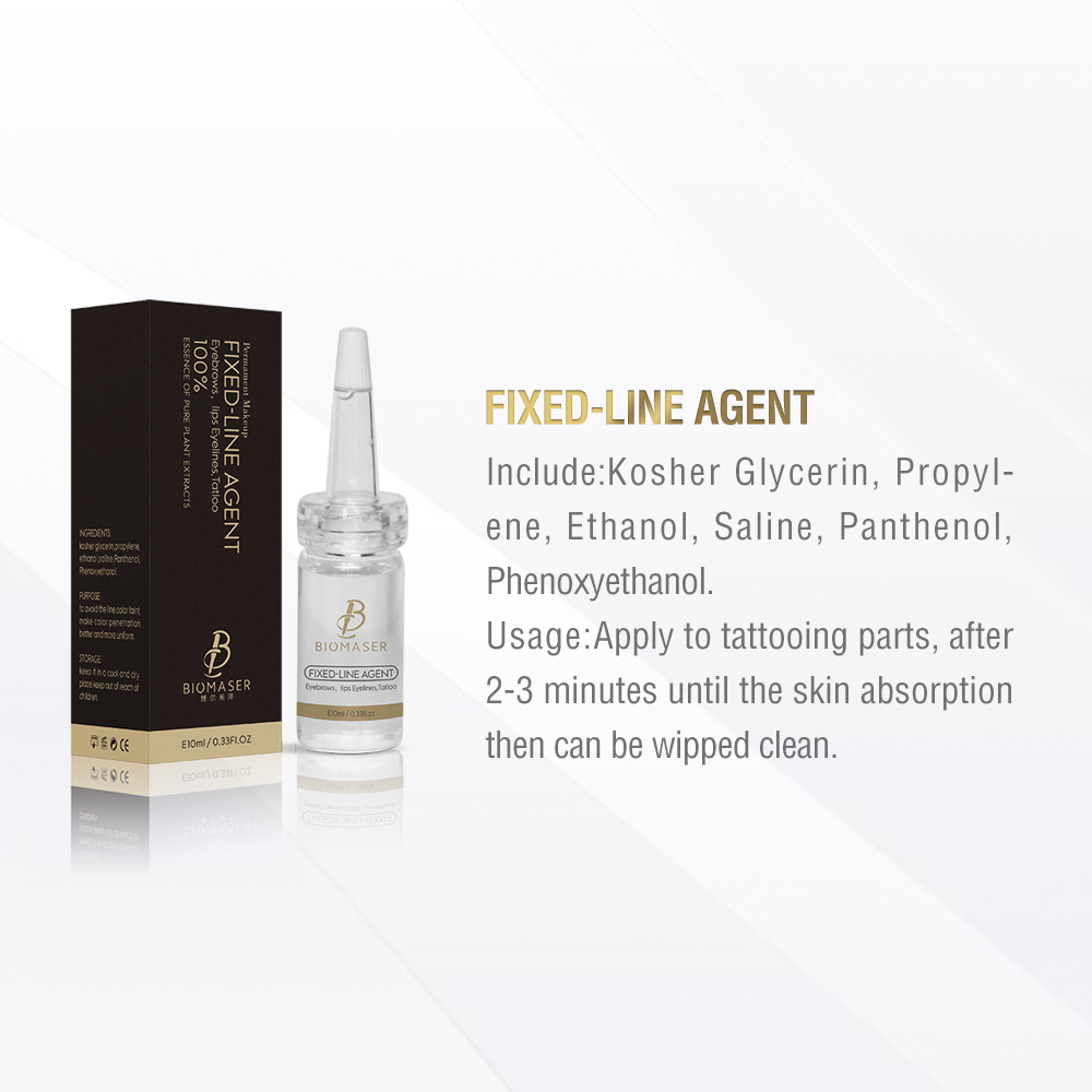 Biomaser Microblading Pigment Fixing Agent Permanent Makeup Ink Color Lock Assistence Eyebrow Fixed-line Tattoo Supplies