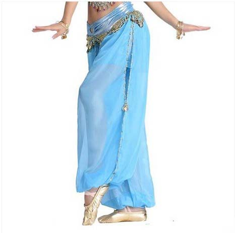 Uus kõhutantsu kostüümid vanemate seksikate sõrmkifonidega Esile tõstetakse kõhtu tantsupüksid naiste kõhutantsu laterna püksidele