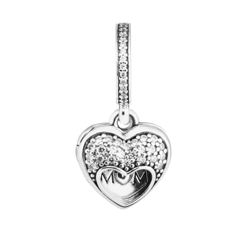 Pandora Jewelry Free Shipping: Fits For Pandora Charms Bracelets I Love My Mom Heart