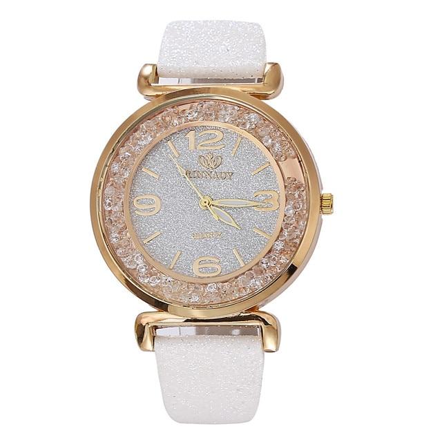 Luxury Women Crystal Stainless Steel Analog Quartz Watch Wristwatch Women Ladies