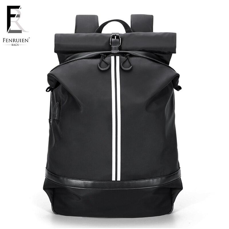 Men s Backpack Black USB Charging Waterproof Laptop Backpack 15 6 Male Large Capacity Fashion Travel