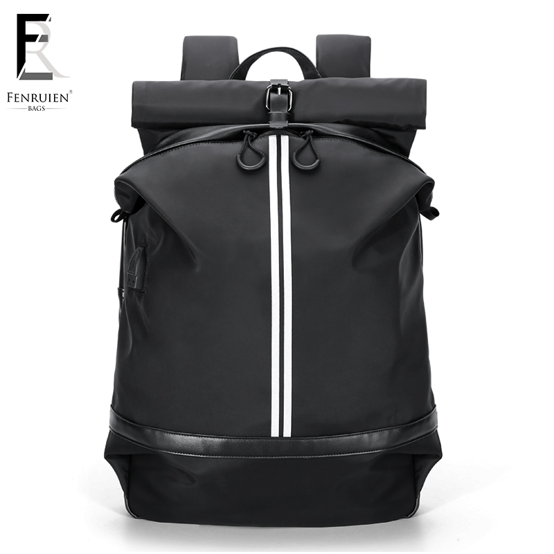 FRN Mens Backpack Black USB Charging Waterproof Laptop Backpack 15.6 Male Large Capacity Fashion Travel Bagpack Mochila MujerFRN Mens Backpack Black USB Charging Waterproof Laptop Backpack 15.6 Male Large Capacity Fashion Travel Bagpack Mochila Mujer
