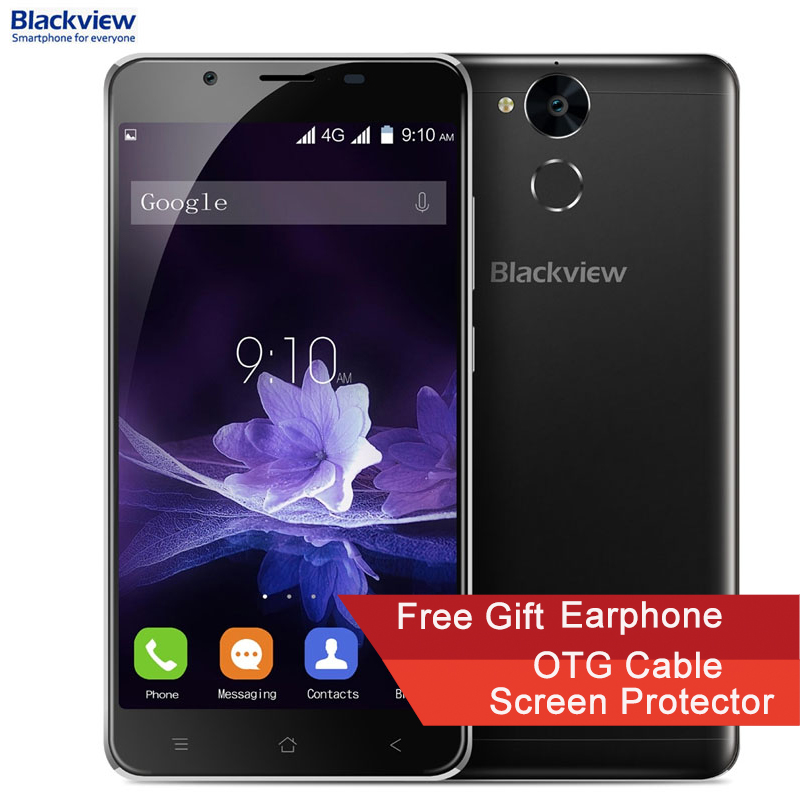 Blackview <font><b>P2</b></font> RAM 4GB+ROM 64GB 6000mAh Battery Fingerprint Identification 5.5&#8221; Android 6.0 MTK6750T Octa Core up to 1.5GHz 4G