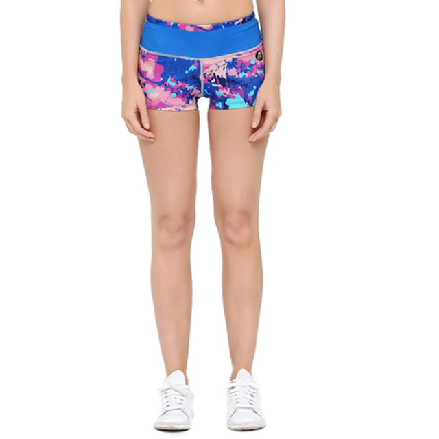 Summer Women Short Pants 3D Prints Workout Fitness Compression Shorts for Bodybuilding Female Keep Slim Bottoms