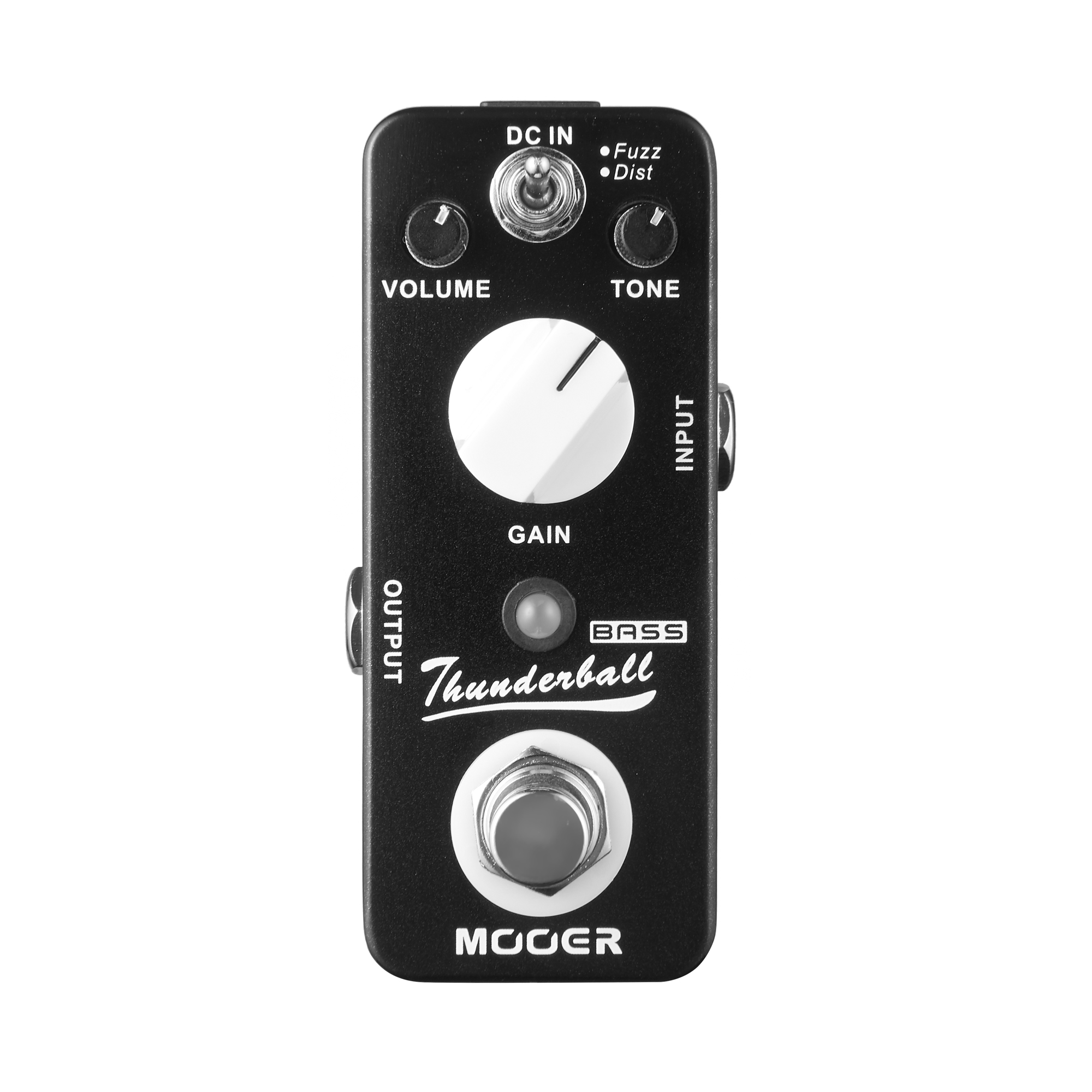 Mooer Thunderball Bass Fuzz Electric Guitar Effect Pedal Fuzz and Dist Modes True Bypass MOD3 mooer ensemble queen bass chorus effect pedal mini guitar effects true bypass with free connector and footswitch topper