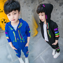 New fashion spring&autumn kids boy's clothing set street style casual sport baby boys 2pcs clothes suit long sleeve top + pants