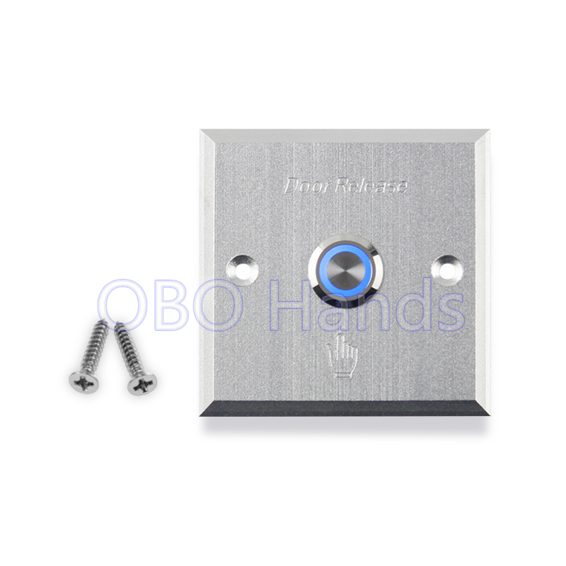 Free shipping high quality aluminum alloy door exit button release switch with blue backlight LED for access control system-LMG1 free shipping door stopper door holders for sale high suction