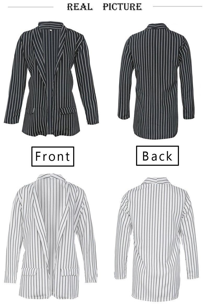 women fashion striped blazer suits-2
