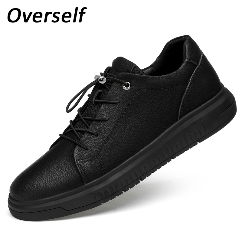 New Big Size Genuine Leather Men Shoes Handmade Spring Summer High Quality Black Men Flats Elastic Shoelaces Shoes Plus to 47 new authentic quality fashion casual men s shoes handmade genuine leather oxfords shoes for spring summer plus size 38 47