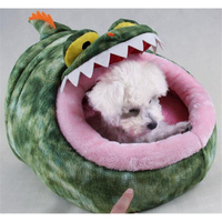 Newest Cartoon Animal Pet Beds For Small Dogs Cats House Warm Soft Crocodile Shape Pet Bed Pet Product