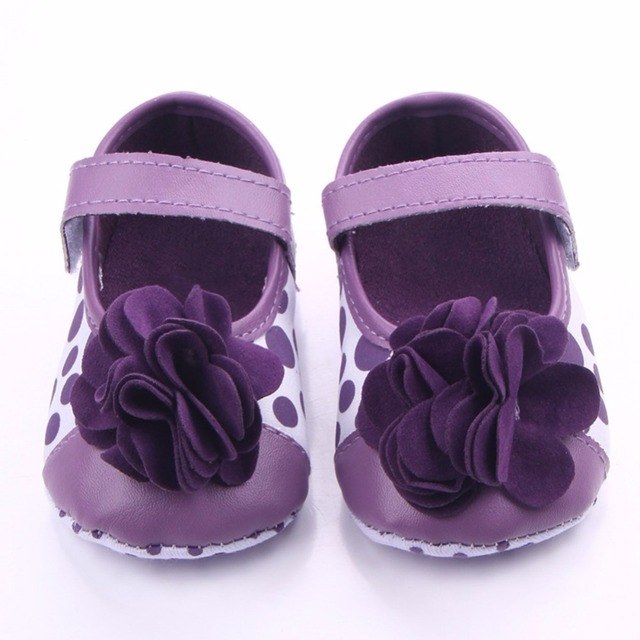 2019 Spring Infant baby Girls Flower shoes Soft Sole Flock First Walkers Crib Shoes 0-18 Months