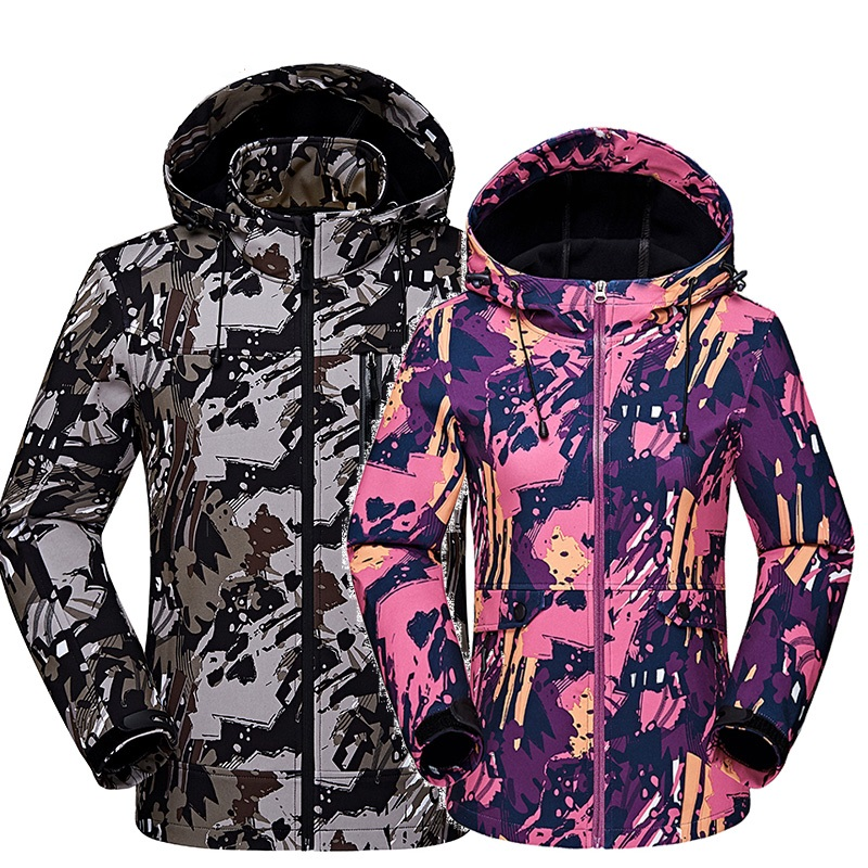 Camping & Hiking Men/women Climbing Windproof Waterproof Softshell Jackets Couple Camouflage Hooded Camo Army Clothing Max Size 3xl 4xl 5xl Bracing Up The Whole System And Strengthening It