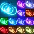 2x146mm + 2x131mm 5050 42SMD RGB LED Angel Eyes Linterna de La Luz con Anillo Del Halo Kit de Control remoto para BMW E46