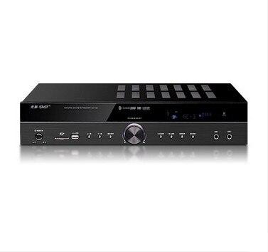 Haute Puissance 122 550 w/300 w 5.1 chaine HIFI amplificateur AV Bluetooth audio home cinéma amplificateur amplificateur de Karaoké avec affichage LED