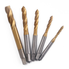 5pcs HSS Titanium Screw Thread Metric Spiral Machine Plug Tap Drill Bit Set M3 M4 M5 M6 M8 стоимость