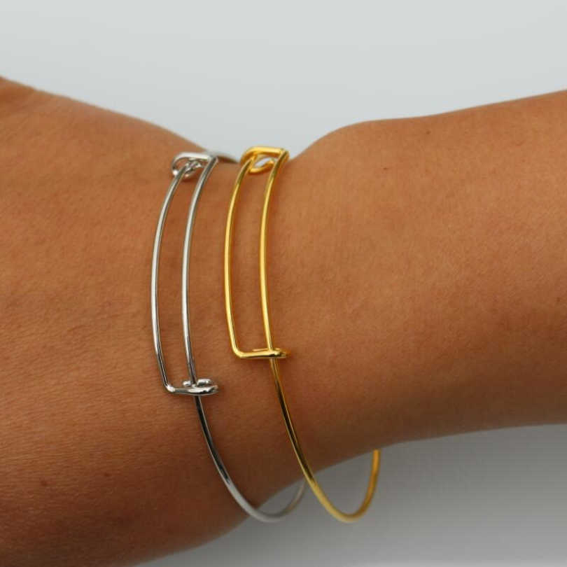 New 2018 Arrival Simple Style Gold Loving Double Hearts Bracelets Valentine's Day Gift Wedding Accessories One Direction Bangle