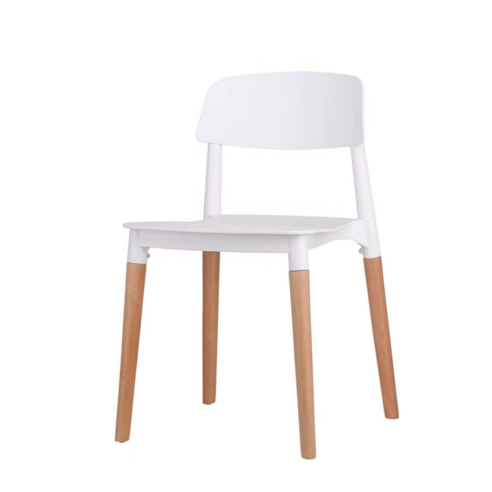 Restaurant Sillas Plastic Chair With Solid Wood Legs  Discuss The Chair