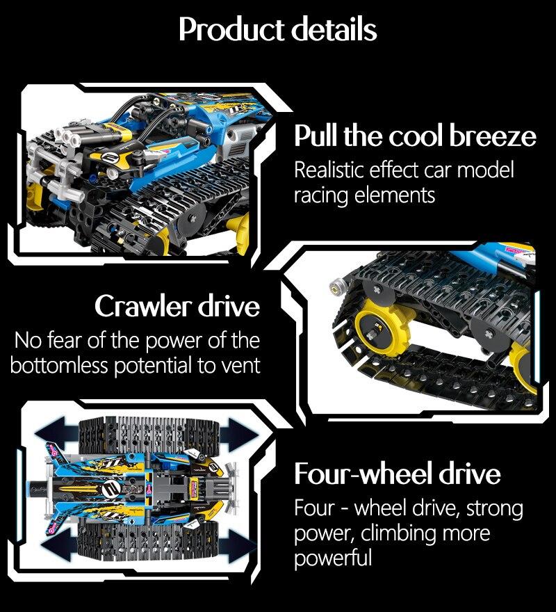 tijolos técnica rc rastreado racer modelo blocos