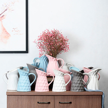 Nordic style Milk jug shape vase decoration Creative ceramic  dried flowers ornaments flower for home