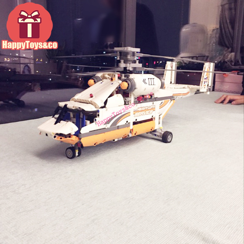 Lepin New Technology Series 42052 1060Pcs Heavy Lift Helicopter toys For Children Gift 20002 Building Blocks Set Compatible new lepin 16009 1151pcs queen anne s revenge pirates of the caribbean building blocks set compatible legoed with 4195 children