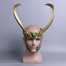 2017 Movie Thor 3 Ragnarok Loki Laufeyson PVC Cosplay Costumes Mask Helmet Halloween Prop