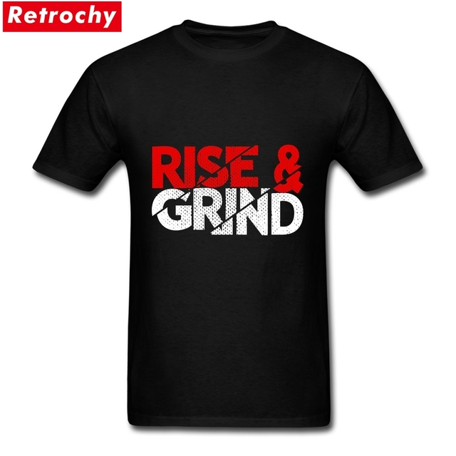 4cfd77607161 Casual Rise And Grind Entrepreneur Quotes Tee Shirts Boys Custom Cotton  Short Sleeve Big Size T Shirts