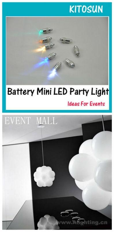 50pcs/lot Wedding party LED Balloon Light Waterproof Bright Micro Decorative Light holiday lighting underwater vase light