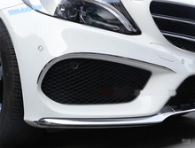 Lapetus Car Styling Front Head Fog Lights Lamp Eyelid Eyebrow Strip Cover Trim For Mercedes Benz C Class W205 Sedan 2015 - 2018 yimaautotrims auto accessory front fog lights lamp eyelid eyebrow cover trim for mercedes benz c class w205 sedan 2015 2018