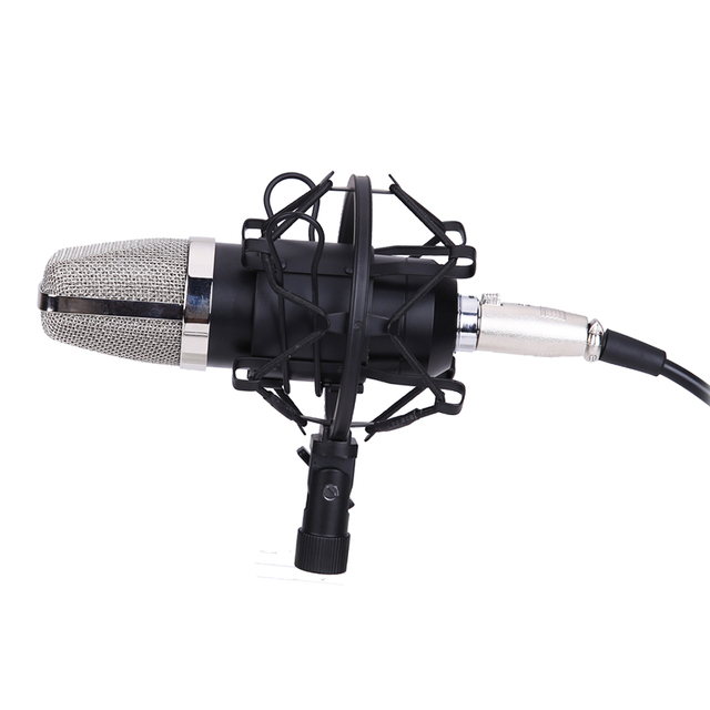 Аудио Профессиональный Конденсаторный Микрофон Микрофон Студия Звукозаписи вт/Шок Микрофон микрофон для Радио Braodcasting КТВ Караоке