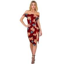 TYJTJY Vestido plus size fashion summer beach dresses 2018 casual new word shoulder bag hip split HOT dress print