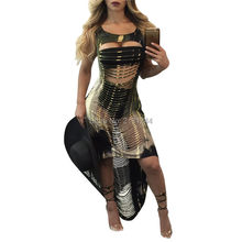 New arrival popular dressess price promotion beach wear sexy women dress  2018 sleeveless cut dress vestidos c4687c5ac8cc