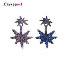 Carvejewl stud earrings 2 pieces set rhinestone for women jewelry girl gift new fashion korean bijoux hot