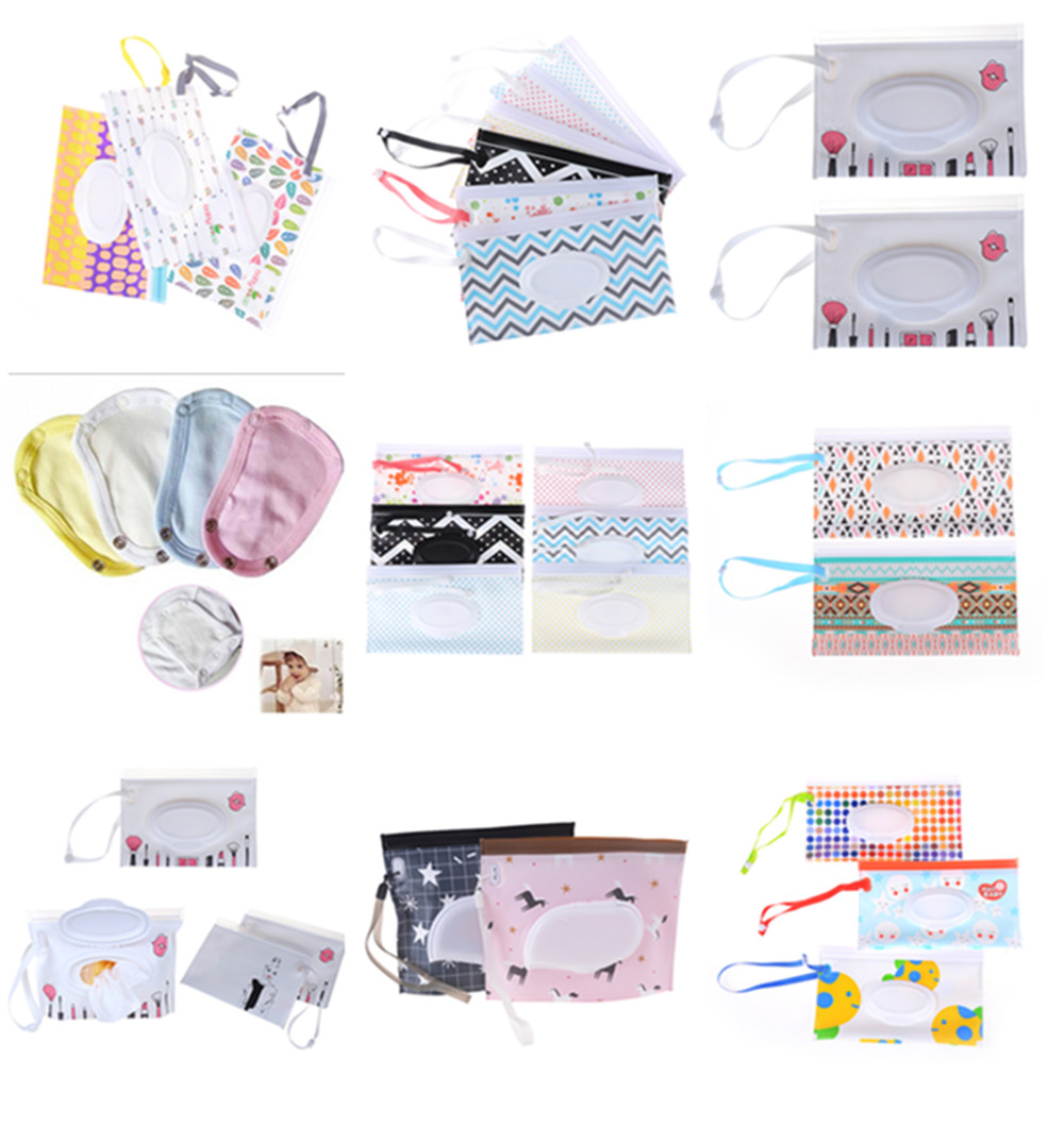 Towel Slim Paper Practical Travel Pouch Portable Clutch Outdoor Carrying Case Reusable Refillable Eco-friendly Wet Wipe Bag