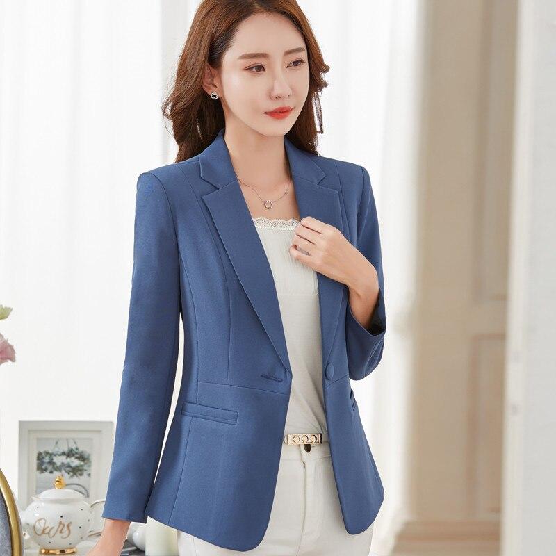 4XL 5XL Blazers 2020 New Fashion Single Button Blazer Women Plus Size Suit Jackets Blue Blaser Female Blazer Femme X429