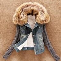 Vrouwen Herfst en Winter Jassen Basic vrouwen Jeans Jacket Vintage Lange mouwen Strakke Casual Meisjes Uitloper
