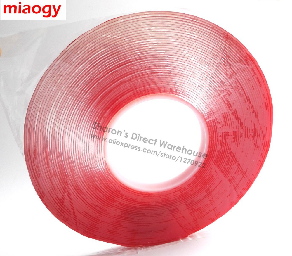 1.5mm thick, 16.5meters long, 10mm wide Two Sides Bond Adhesive Acrylic Tape for Glass Nameplate PP Truck 300mm 55m 3m 467mp 200mp two sides adhesive tape for flexible circuits polyimide heaters laptop metal plate rubber plastic bond