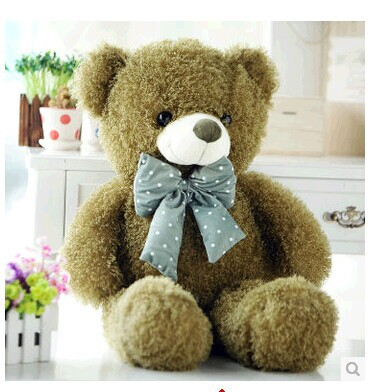 lovely teddy bear doll candy colours army green teddy bear with spots bow plush toy doll birthday gift about 80cm new creative plush bear toy cute lying bow teddy bear doll gift about 50cm