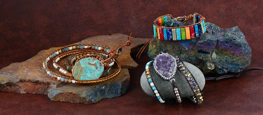 Chakra Bracelet, Handmade Multi Color Natural Stone