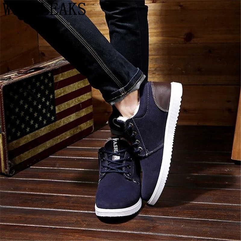 Giày Da Lộn Nam Mùa Đông Giày Nam Giày thiết kế cổ chân giày nam thời trang 2019 sang trọng ngắn zapatos casuales hombres En cuero