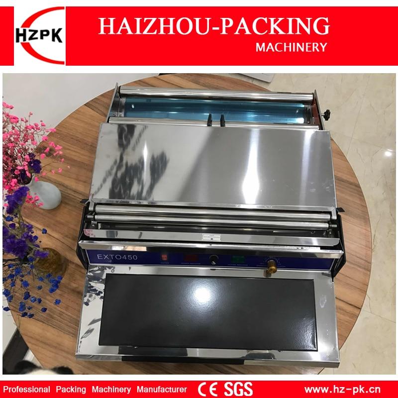 HZPK Économiseur de Nourriture Simple Main Emballage Manuel Machine d'emballage Frais En Plastique emballage sous film Machine à Emballer Petit Emballeur HW-450