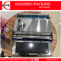 HZPK Food Saver Simple Hand Wrapper Manual Wrapping Machine Use Fresh Plastic Film Wrapper Packing Machine Small Packer HW 450