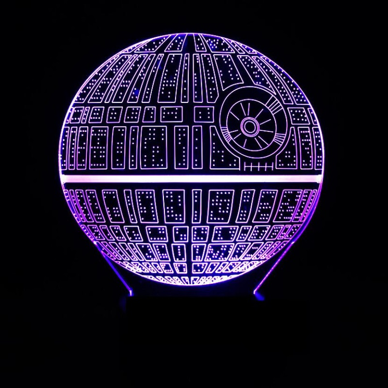 LED lamp Star Wars The Death Star Multi-colored Acrylic Light Festive Holiday Birthday Gift Ornament