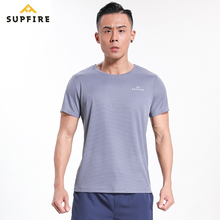 Gym T Shirt Supfire Running Quick Dry T-shirt Slim Fit Tops Tees Sport Men s Fitness Short Sleeve Training Sportswear C001