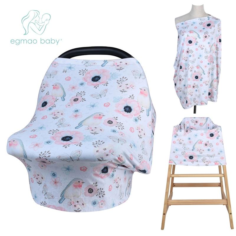 Egmao Baby Prachtige Patroon Multi-gebruik Stretehy Infinity Outdoors Moeder Voeden Baby Schort Sjaal Borstvoeding Verpleging Covers