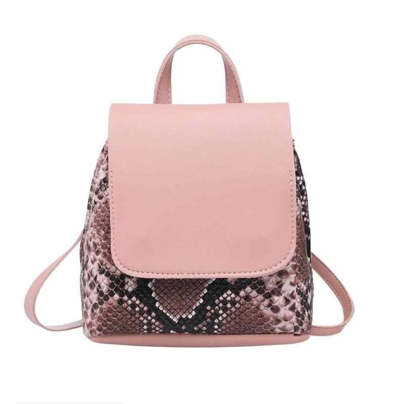Design de pele de cobra mochilas femininas serpentina moda feminina mochila estilo europeu sacos feminina 2019 novo saco do sexo feminino