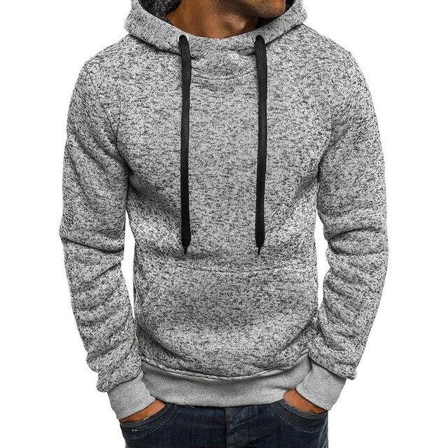 Laamei 2018 Новый бренд толстовка Для мужчин толстовки зимние однотонные худи Для мужчин s хип-хоп пальто пуловер Для Мужчин's Повседневное костюмы masculino