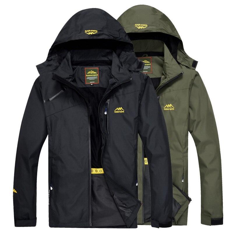 سترة رجالية للتنزه في الهواء الطلق من LoClimb معطف مطر رياضي للربيع للرجال للتسلق والرحلات سترة واقية للصيد مضادة للماء AM255