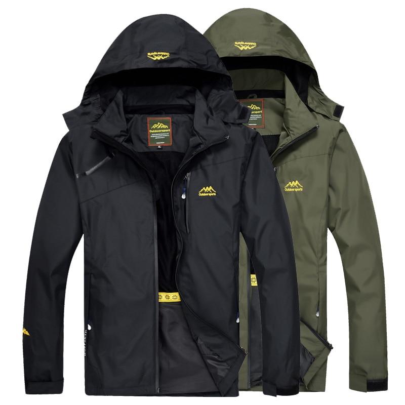 LoClimb Men's Outdoor Hiking Jacket Men Spring Sports Rain Coat Climbing Trekking Windbreaker Fishing Waterproof Jackets AM255