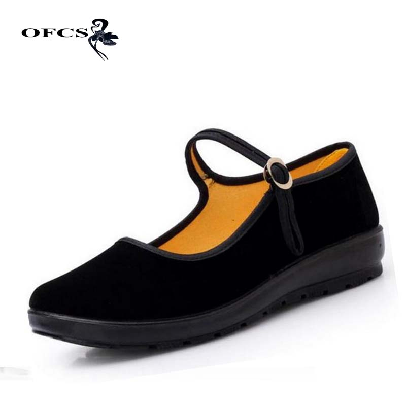 Plus Size 34~41 Black 2017 Mary Janes Ladies Flats Buckle Strap Comfortable Women Shoes Round Toe Solid Casual Shoes new 2017 spring summer women shoes pointed toe high quality brand fashion womens flats ladies plus size 41 sweet flock t179